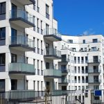 just built new modern apartment buildings in Lodz, Poland
