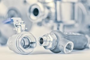 Fittings and ball valve with selective focus on thread fittings